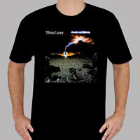 Thin Lizzy *Thunder and Lightning Rock Band Men's Black T-Shirt Size S to 3XL