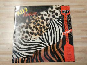 KISS - ANIMALIZE - VINYL LP - JAPAN PRESS 1984 w/ OBI
