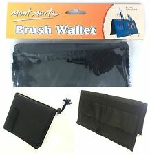 Mont Marte Folding Brush Wallet -Stands Up For Easy Access Artist Art Supply