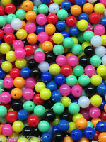 1000 x  8mm & 6mm Beads in 10 Colours inc Luminous (Glow in the Dark) & Oval.