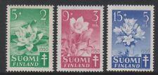 Finland - 1950, Anti TB Fund (Flowers) set - L/M - SG 489/91
