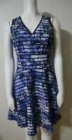BANANA REPUBLIC - WOMEN'S BLUE FLORAL PRINT DRESS - SIZE 2 -