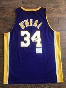 Shaquille O'Neal Signed Lakers Jersey Nike Swingman Shaq Auto PSA Witness