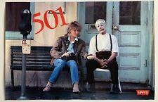 VTG 1986 Levis 501 NYC Sad Clown 34 x 22 Poster