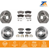 Lincoln Fusion For 12-2011 Ford MKZ Front Rear Semi-Metallic Brake Pads