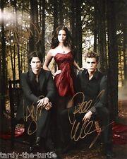The Vampire Diaries Cast #1 8 x 10 Autograph Reprint Nina Dobrev Paul Wesley +1