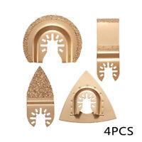 4x Carbide Oscillating Multi Tools Saw Blades For Ceramic Concrete Porcelin Tile