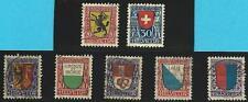 Schweiz gestempeltes Lot mit MiNr.144,150,151,154,211,212 alle mit Falz - Wappen