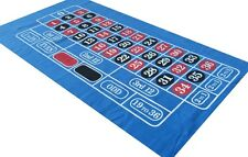 BLUE ROULETTE FELT BAIZE LAYOUT - VIVID COLOURS  - LARGE PLAYING AREA