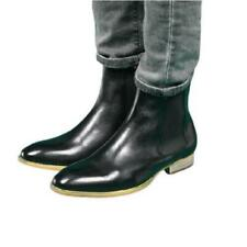 Cowboy Mens Gneuine Cow Leather Chelsea Boots Shoes Pull on Business Formal 44 L
