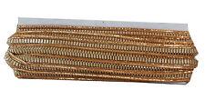 9 mtr lace border saree thin trim ribbon, gold antique edge glitter ridge craft