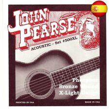 John Pearse P500XL - Juego de cuerdas para guitarra de fósforo/bronce