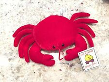 """Red Crab 10"""" Playful Plush Stuffed Animal Toy Soft N Cuddly With Tag NEW"""