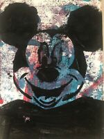 Hasworld Original,painting,signed,Pop Art,Cat Contemporary abstract Mickey Mouse