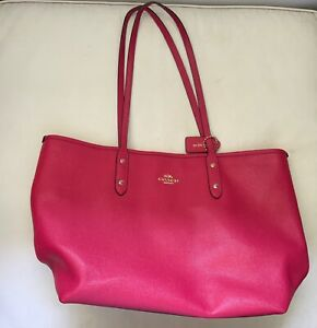 Large Coach hot pink large tote. RRP $295