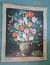 NEEDLEPOINT CANVAS {ROYAL PARIS} ( VASE DE FLEURS ) { STARTED } steiner freres