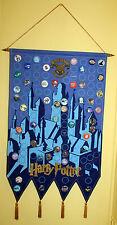 Harry Potter Official Hogwarts Banner & Collector Buttons Badges Warner Bros2000