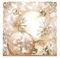Christmas Napkins for Decoupage Paper Craft Serviettes Beige 33x33cm 3PLY x20