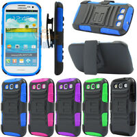 For Samsung Galaxy S3 S III i9300 Case Cover Armor Holster Protector Kickstand