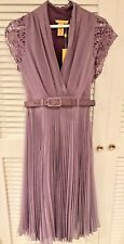 Catherine Malandrino Cap Sleeve Pleated & Belted Silk Dress NWT Size 2 $495