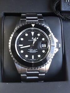 STEINHART Ocean One Black Ceramic Men's Diver Automatic 26J Watch WR300m Ø42mm