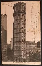 St Paul Building New York 1906 Illustrated Post Card Co