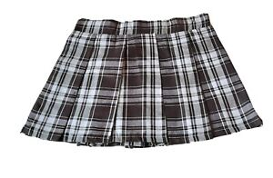Tartan Pleated Check Mini Skirt Ladies Plaid Tennis Office Casual Outgoing Skirt
