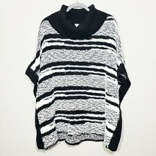NWT Calvin Klein Chunky Knit Cowl Neck Poncho Sweater 120$ S/M