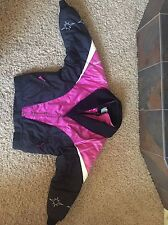 Vintage Polaris Women's Pink Jacket Large Thermoloft Insulated Snowmobile Winter