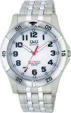 CITIZEN Q&Q SOLARMATE White Men's Wrist Watch 5BAR Solar Power H968-204