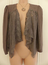 Gorgeous little brown River Island size 10 lace jacket