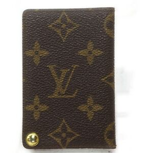 Louis Vuitton Card Case Porte Cartes Credit Pression M60937 Monogram 1133017
