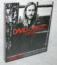 David Guetta Listen 2014 Taiwan CD w/BOX  (ft. SIA THE SCRIPT)