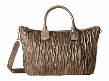 GUESS KEEGAN Satchel Bag METALLIC BRONZE Purse NEW With Tag AUTHENTIC $118 RTV