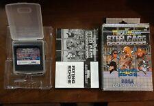 Wrestlle Mania Steel Cage Challenge Sega game gear - complete