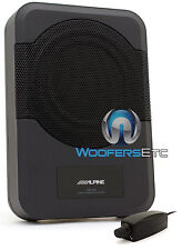 "ALPINE PWE-S8 8"" LOADED UNDER SEAT ENCLOSURE BOX SUBWOOFER SPEAKER & AMPLIFIER"