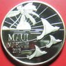 2005 HAWAII MAUI $1 TRADE DOLLAR 1oz SILVER PROOF STING RAYS PALM TREE SUN C#672