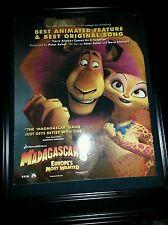 Madagascar 3 Rare Original Academy Awards Consideration Promo Poster Ad Framed!