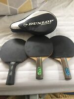 table tennis bats and balls
