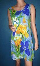Vintage Jams World Babydoll Dress Swim Cover Sz S Hawaiian Tropical