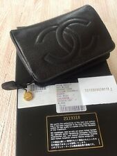 Vintage CHANEL Caviar Black Leather Classic XS Mini Classic Clutch Cosmetic Bag