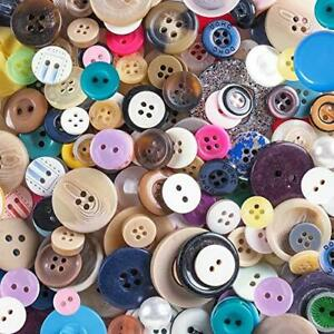 Scrambled Assortment Bag of Buttons for Arts & Crafts, Decoration, Collections,