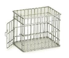 Dolls House Galvanised Small Dog Cage Miniature Pet Accessory 1:12 Scale