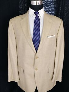 John Nordstrom Men's Loro Piana Cashmere Silk Beige Blazer Sport Coat Jacket 44R