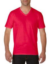 Magliette da uomo rossi con scollo a v taglia L