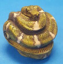 Harmony Kingdom EMERALD Snake Pendant HEART Version - RARE Signed - LE 50 Boa