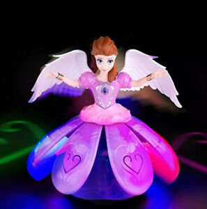 Dancing Angel Lighting Music Rotate Beautiful Doll Robot Toy Best Gift For Girls