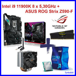 Gamer Bundle Intel Core i9 11900K 8x 5,30GHz - ASUS ROG Strix Z590-F  32GB DDR4