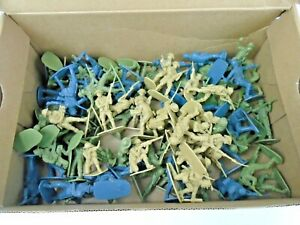 Box Of Vintage Plastic Toy Soldiers