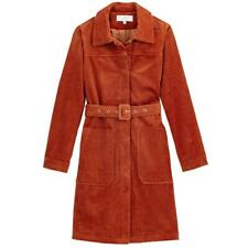 La Redoute Corduroy Trench Coat Size 6 Belted Fitted Jacket 70's Vibes RRP £105